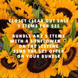 🌻5 items for 25.00🌻